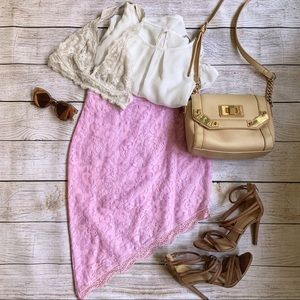 💎 3 for $25 💎 Lavender lace asymmetrical skirt